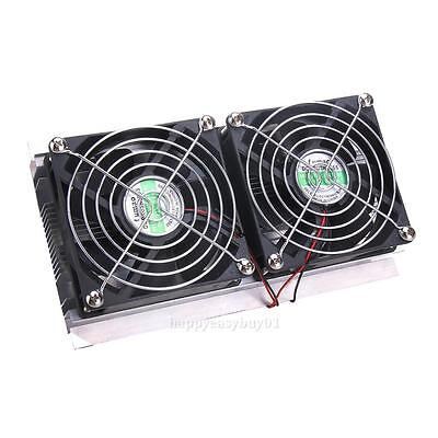Thermoelectric Peltier Refrigeration Semiconductor Cooling System Cooler 2x Fan