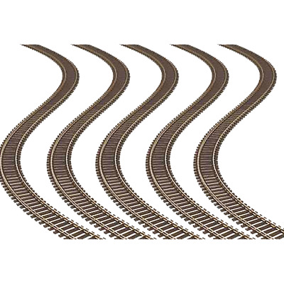 "Atlas 168 - Code 100 Super Flex 36"" Track (5 pcs) - HO Scale"