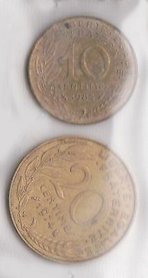 (H30-76) 1924-84 France 10c and 20c coins (N)