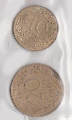 (H30-81) 1969-84 France 10c and 20c (S)