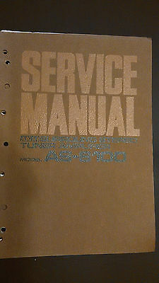 3 BOOK LOT Akai as-8100 s Service Manual stereo tuner receiver radio