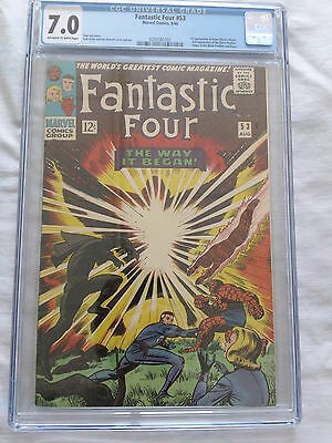 Fantastic Four 53 2nd black panther app and origin and 1st Klaw CGC 7.0