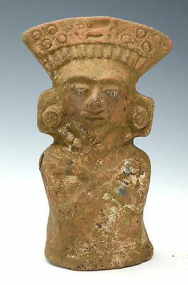 Fine Mayan Pottery Molded Female Figure Late Classic Period, Circa 600 AD