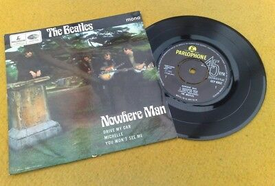 "Beatles "" Nowhere Man "" Rare 69 Early  70's Uk Ep Gramophone Co Rim Text"