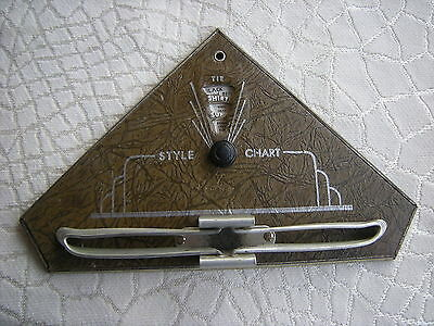 Vintage Art Deco 1937 Nu-Dell Mfg.Tie Rack with Style Chart