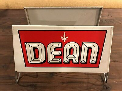 Vintage Dean Metal Service Station Shop Tire Stand Sign