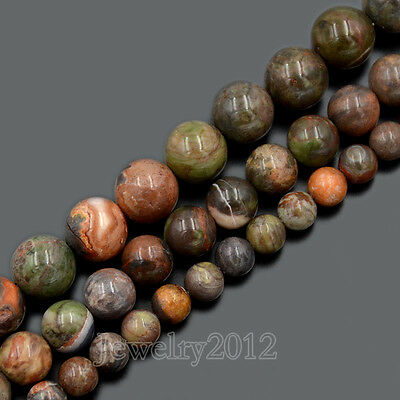 Natural Green Opal Gemstones Round Loose Beads Jewelry Making 6mm 8mm 10mm