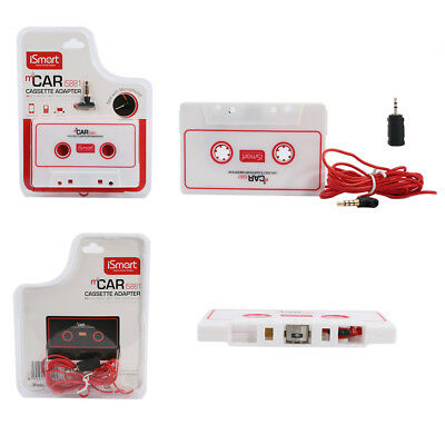 iSmart Cassette Tape AUX Car Adapter for iPod MP3 iPhone Radio 2.5mm 3.5mm JACK