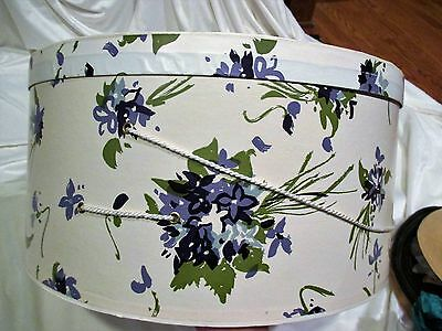 "Hat Box Bonwitt Teller Accessories Vintage Storage Purple 18"" Diameter"
