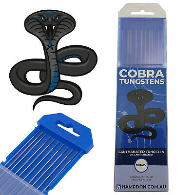 1.0mm 2% Lanthanated TIG Tungsten electrodes - PREMIUM QUALITY - Pack of 10