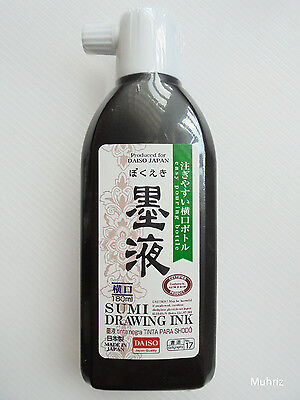 Daiso Japanese Calligraphy Shodo BOKUEKI SUMI DRAWING INK 180ml