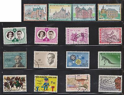 (U16-8) 1960-70 Belgium mix of 55 stamps value to 50F (D)