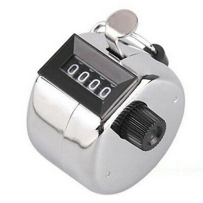 Round Base Mechanical 4 Digit Manual Hand Tally Mechanical Palm Click Counter BF