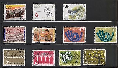 (U16-9) 1960-80 Belgium mix of 40 stamps value to 150F (E)