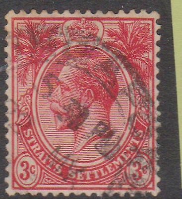 (Q18-52) 1902 Straits Settlement 3c red KGV (O)