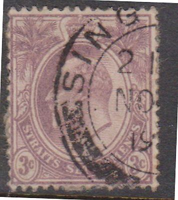 (Q18-48) 1902 Straits Settlements 3c purple Edward VII (K)
