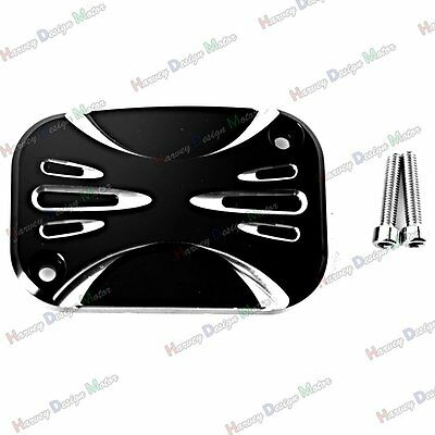 Deep Cut Front Brake Master Cylinder Cover For Harley Touring Street Glide 08-16