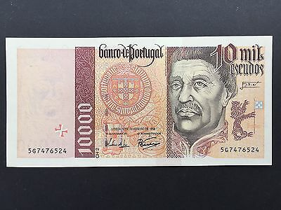 Portugal 10000 Escudos P191c Dated 12th February 1998 Uncirculated UNC