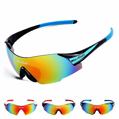 Unisex Photochromic Glasses Sunglasses Polarized Lens Cycling Goggles Eyewear