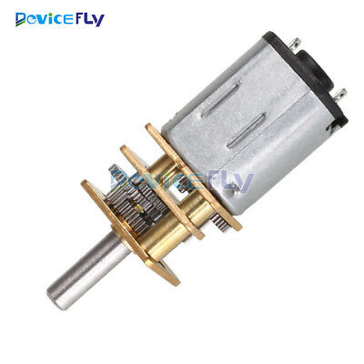 DC 12V 300RPM Micro Speed Reduction Gear Motor With Metal Gearbox Wheel