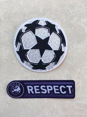 Set Of 2008-2012 UCL UEFA Champions League Respect Star Ball Patch Badge Parche