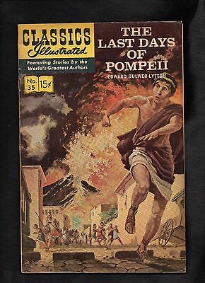 Classics Illustrated #35  Hrn167 (Last Days Of Pompeii) Double Cover