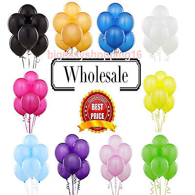 50 WHOLESALE JobLot Colour Balloons Latex LARGE Quality Bulk Price Party Baloons