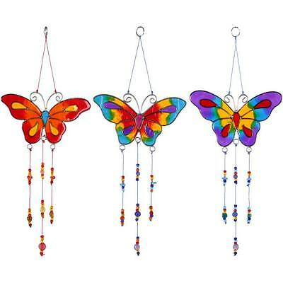 Butterfly Suncatcher With Hanging beads  Available in  3 Colours