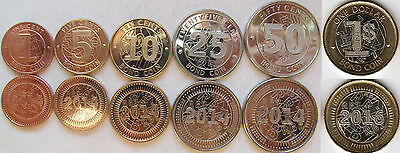 "Zimbabwe set of 6 coins 2014-16 BOND COINS ""1+5+10+25+50 cents+ 1 dollar""  UNC"