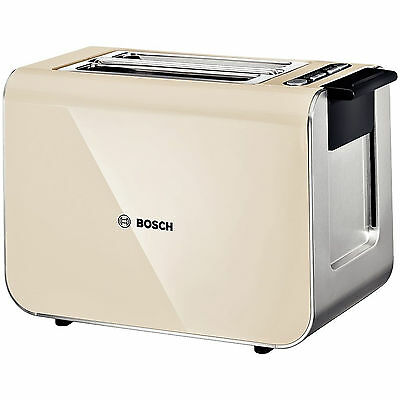 Bosch Styline TAT8617GB Stainless Steel 2-Slice Toaster - Cream