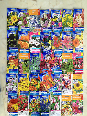 JOB LOT 100 PACKETS x MIXED SUTTON FLOWER SEEDS.OUT OF DATE BUT PERFECT. £35 del