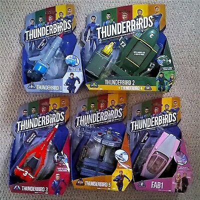 Thunderbirds Are Go Models With Sounds By Vivid Toys - New On Sealed Card