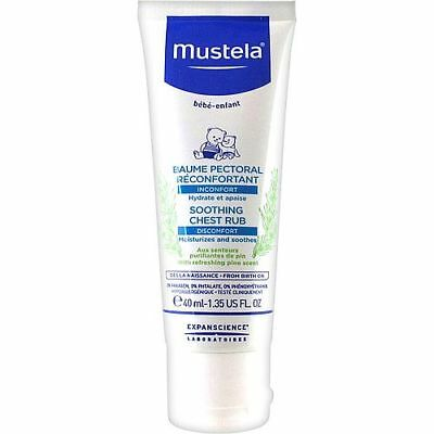 Mustela Bebe Soothing Comfort Balm 40ml Help to ease breathing with Shea butter