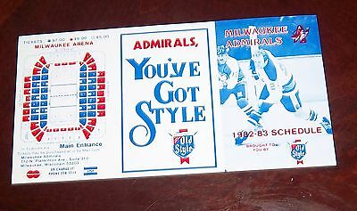 Milwaukee Admirals Schedule  1982-83