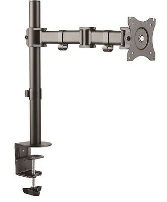 "Full Motion Adjustable Single Arm 13'' to 27"" LCD Monitor Desk Mount 15"" 22"" 24"""