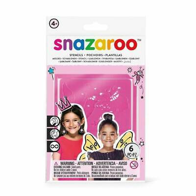 Snazaroo STENCILS Fantasy Girls Face Paint Party Make Up Reusable Face Painting