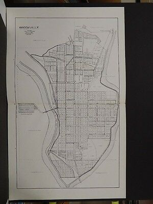 Indiana, Franklin County Map, Brookville, 1925 Double Page   K8#75