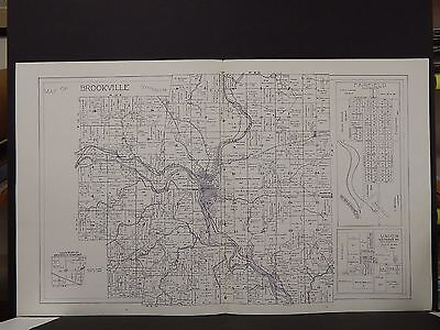 Indiana, Franklin County Map, Brookville & Ray Township, 1925 Dbl Pg    K8#76