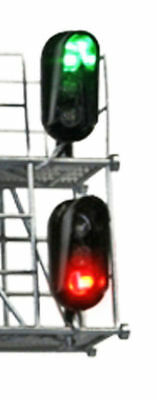 BLMA HO Scale Modern Hooded 3 Color LED Block Signal Heads 1 Pair (2) 4039