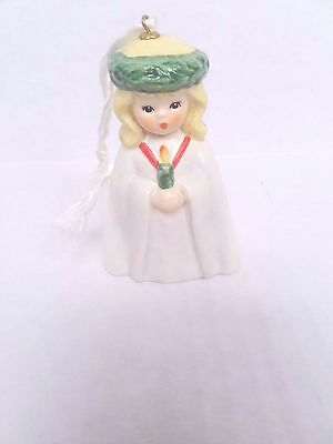Christmas Girl Goebel Charlot Byj 1986 Santa Lucia Bell West Germany Rare