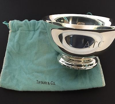 "Tiffany & Co Sterling Silver 5"" Bowl in Pouch"