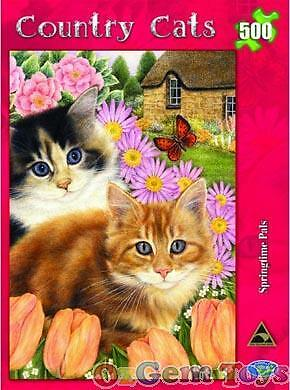 Country Cats II Springtime Pals Holdson Jigsaw Puzzle 500 Pieces