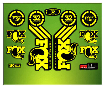Pegatinas Horquilla Fork Fox 32 Performance Elx56 Stickers Aufkleber Decals Mtb