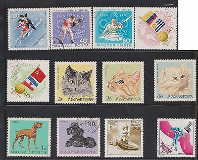(U18-9) 1970 Hungary mix of 29 stamps value to 60F (I)