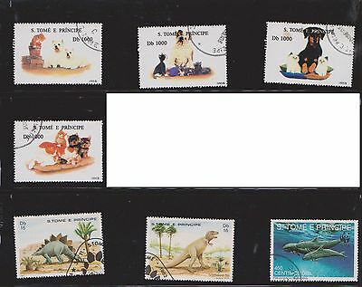 (U17-22) 1990's St Thomas and Prince Islands mix of 24stamps value to Db1000 (A)