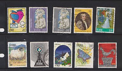(U18-18) 1980-90 Ireland mix of 40 stamps value to 50P (F)