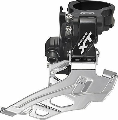 Shimano 786 Deore XT 10 Spd Double Front Derailleur ual Pull Down Swing Bicycle