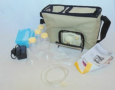 Medela Advanced Personal Double Electric Breast Pump Tan Canvas Bag 57065