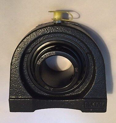 "Sealmaster TB-22C 1-3/8"" Bore 3-1/4"" Hole Tapped Base Pillow Ball Bearing - NEW"