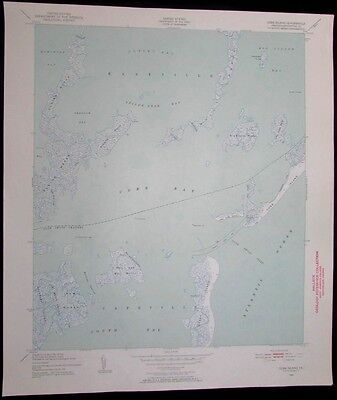 Cobb Island Virginia Capeville Eastville South Bay vintage 1952 USGS Topo chart
